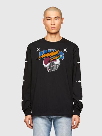 Diesel - CL-T-JUST-LS-O, Schwarz - T-Shirts - Image 1