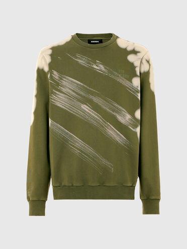Sweatshirt mit Bleicheffekten