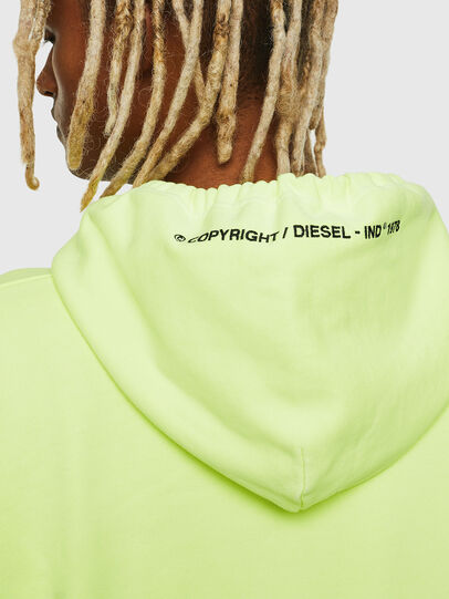 Diesel - S-ALBY-FLUO, Neongelb - Sweatshirts - Image 6