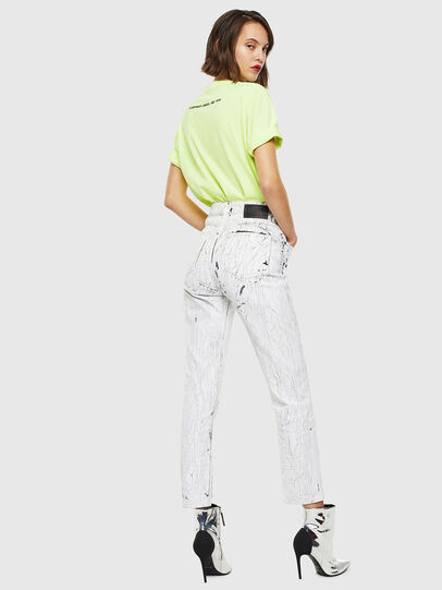 Diesel - T-JUST-SLITS-FLUO, Neongelb - T-Shirts - Image 6
