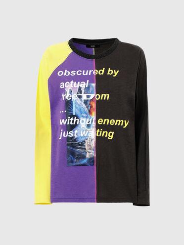 Langarmshirt in Colour-Blocking-Optik