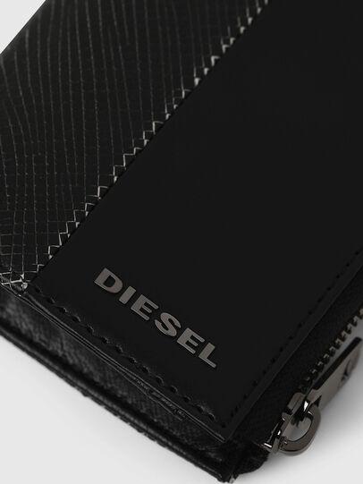 Diesel - L-12 ZIP, Schwarz/Weiß - Portemonnaies Zip-Around - Image 4