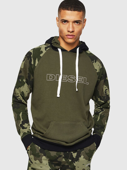 Diesel - UMLT-BRIAN, Camouflagegrün - Sweatshirts - Image 1