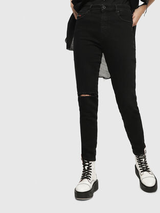 Babhila High 084ZN, Schwarz/Dunkelgrau - Jeans