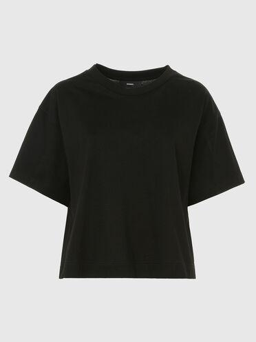 Kastenförmiges T-Shirt aus merzerisierter Baumwolle