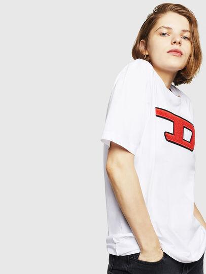 Diesel - T-JUST-DIVISION-D-FL, Weiß - T-Shirts - Image 5