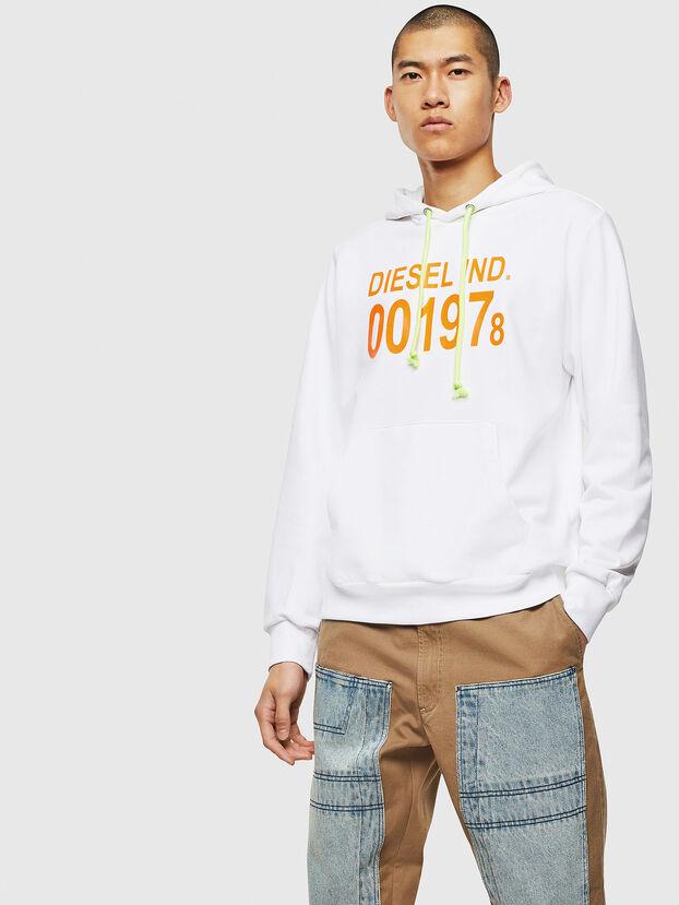 S-GIRK-HOOD, Weiß - Sweatshirts