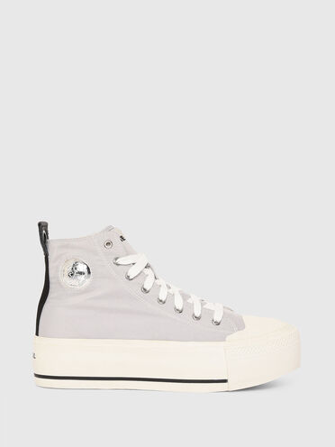 Flatform-Sneaker aus technischem Satin
