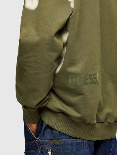 Diesel - S-GIRK-A62, Armeegrün - Sweatshirts - Image 4