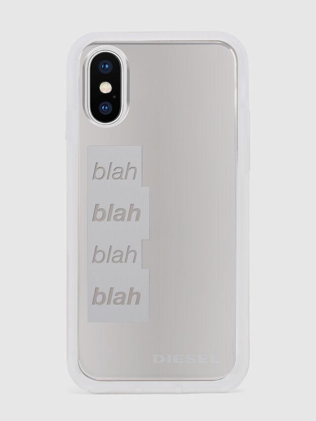 Diesel - BLAH BLAH BLAH IPHONE X CASE, Weiß/Silber - Schutzhüllen - Image 2