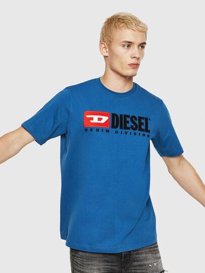 Diesel - T-JUST-DIVISION, Blau - T-Shirts - Image 1