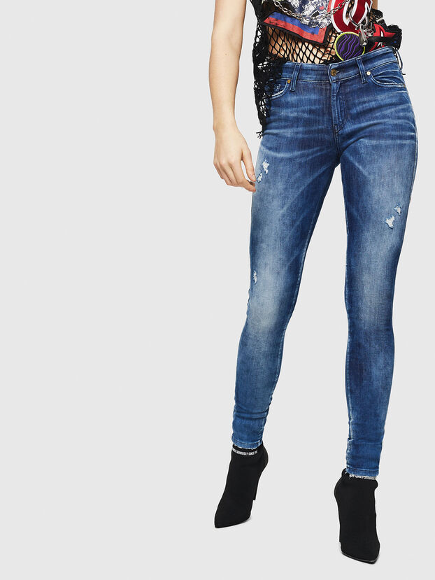 Slandy 0090Q, Mittelblau - Jeans