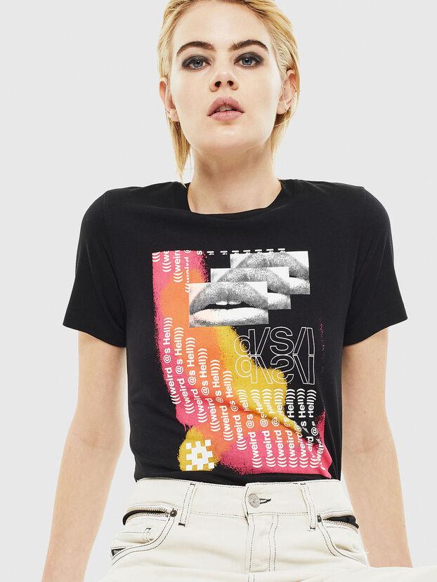 T-SILY-S5, Schwarz - T-Shirts