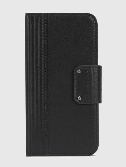Diesel - BLACK LINED LEATHER IPHONE X FOLIO,  - Klappcover - Image 2
