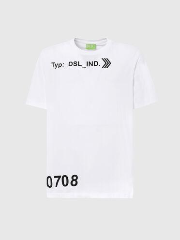 Nachhaltig hergestelltes T-Shirt mit DSL_IND-Aufdruck
