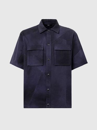 Canvas-Hemd mit Batik-Look