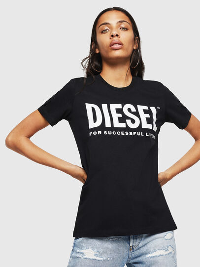 Diesel - T-SILY-WX, Schwarz - T-Shirts - Image 1