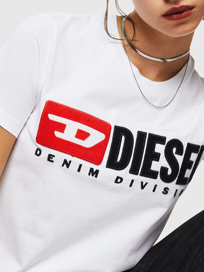 Diesel - T-SILY-DIVISION, Weiß - T-Shirts - Image 3
