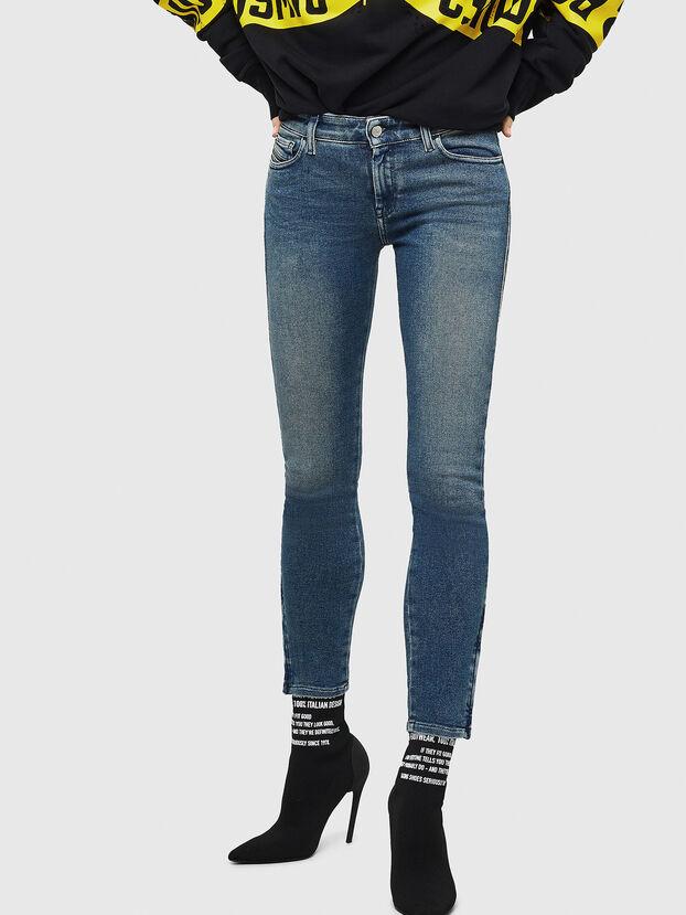 Slandy Zip 083AL, Mittelblau - Jeans