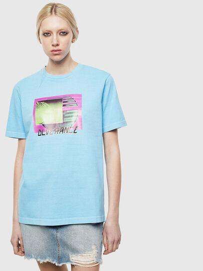 Diesel - T-JUST-NEON-S1, Azurblau - T-Shirts - Image 2