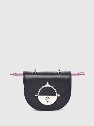 Handtaschen-Portemonnaie aus Nappaleder in Sattelblattoptik