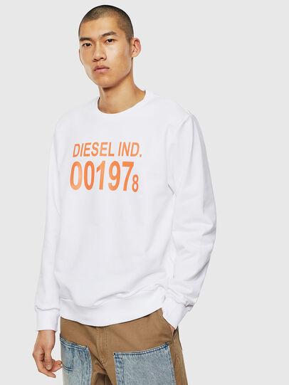 Diesel - S-GIRK-J3, Weiß - Sweatshirts - Image 1