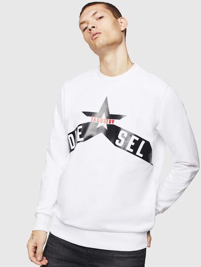 Diesel - S-GIR-A2, Weiß - Sweatshirts - Image 1