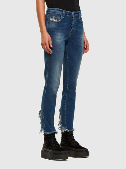 Diesel - Babhila-Zip 009EZ, Mittelblau - Jeans - Image 5