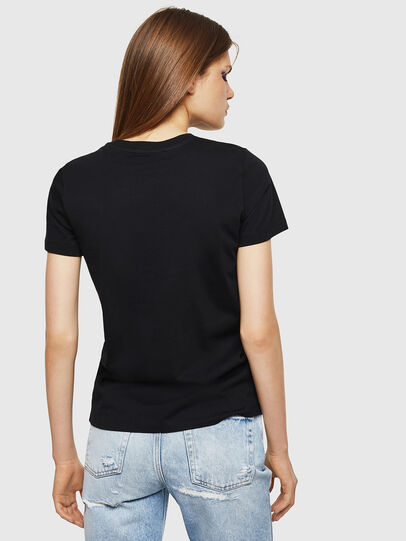 Diesel - T-SILY-DIVISION, Schwarz - T-Shirts - Image 2