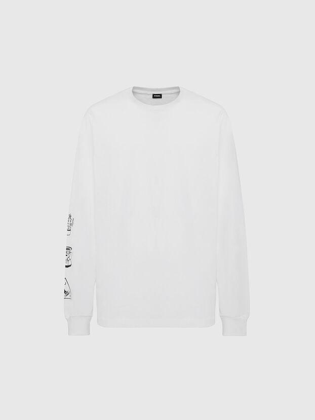 T-JUST-LS-X90, Weiß - T-Shirts