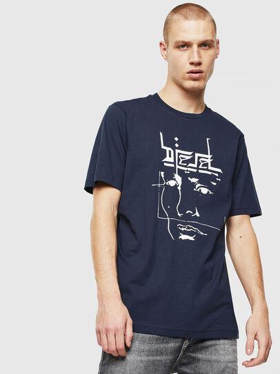 Diesel - T-JUST-J14, Blau/Weiß - T-Shirts - Image 1