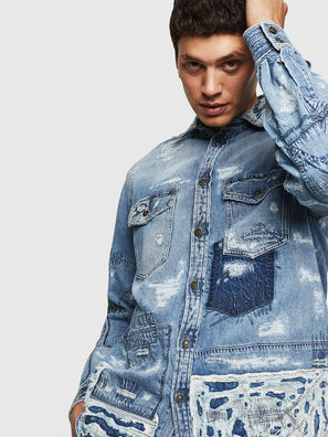 D-HISAKY-SY, Jeansblau - Denimhemden