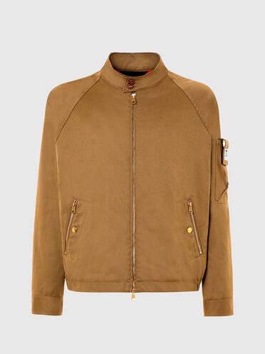 Kurze Jacke aus Baumwoll-Twill