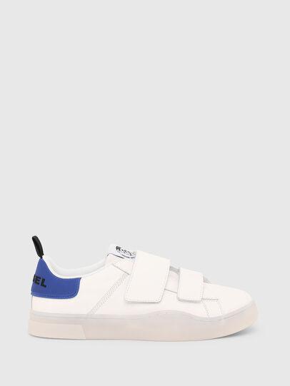 Diesel - S-CLEVER LOW STRAP, Weiß/Blau - Sneakers - Image 1