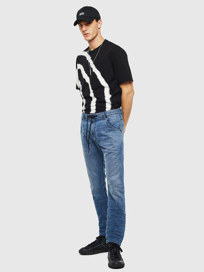 Diesel - Krooley JoggJeans 069MA, Mittelblau - Jeans - Image 6