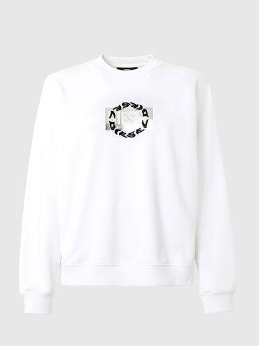 Sweatshirt mit doppeltem Logo