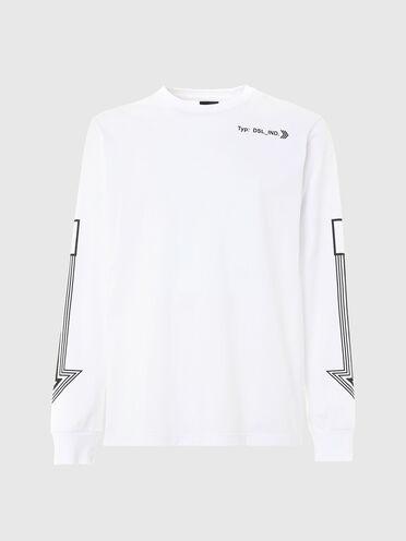 Langärmeliges T-Shirt mit Pfeilmotiven