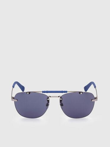 Sonnenbrille mit geometrische Navigator-Silhouette