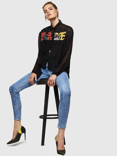 Diesel - Gracey JoggJeans 0870P, Hellblau - Jeans - Image 4