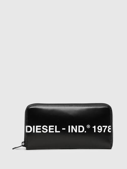 Diesel - 24 ZIP, Schwarz - Portemonnaies Zip-Around - Image 1