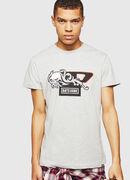 PS-T-DIEGO-OCTOSKULL, Hellgrau - T-Shirts