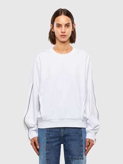 Diesel - F-ROSETTA, Weiß - Sweatshirts - Image 1