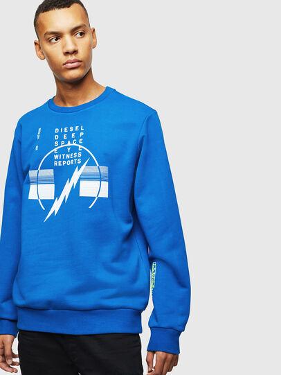 Diesel - S-GIRK-J2, Blau - Sweatshirts - Image 1