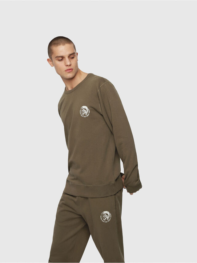 Diesel - UMLT-WILLY, Armeegrün - Sweatshirts - Image 1
