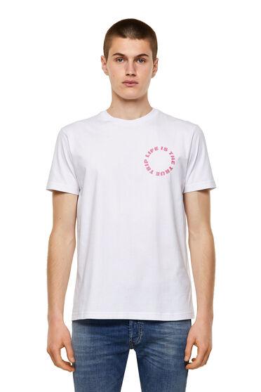T-Shirt mit rundem Logo