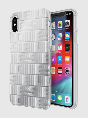 DIESEL PRINTED CO-MOLD CASE FOR IPHONE XS & IPHONE X, Weiß - Schutzhüllen