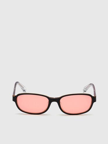 Schmales, rechteckiges Brillengestell aus Acetat