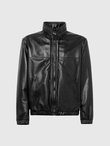 Jacke aus weichem, perforiertem Leder