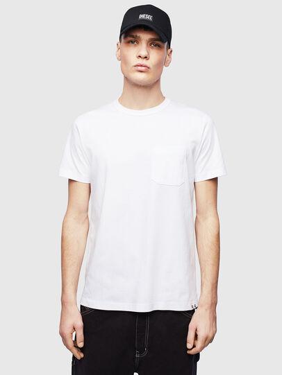 Diesel - T-RABEN-POCKET, Weiß - T-Shirts - Image 1