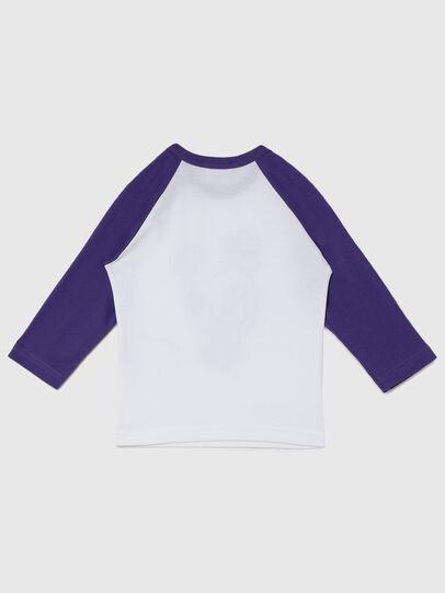 Diesel - TBALYB-FL, Weiss/Violett - T-Shirts und Tops - Image 2